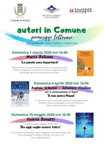 autori in Comune – pomeriggi letterari