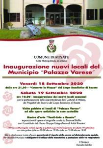 """Inaugurazione nuovi locali del Municipio """"Palazzo Varese"""""""