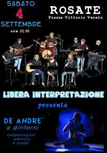 Concerto in piazza DE ANDRE' e dintorni